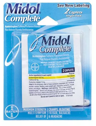 Midol Complete Single Use 2 Caplet Pack - 122180