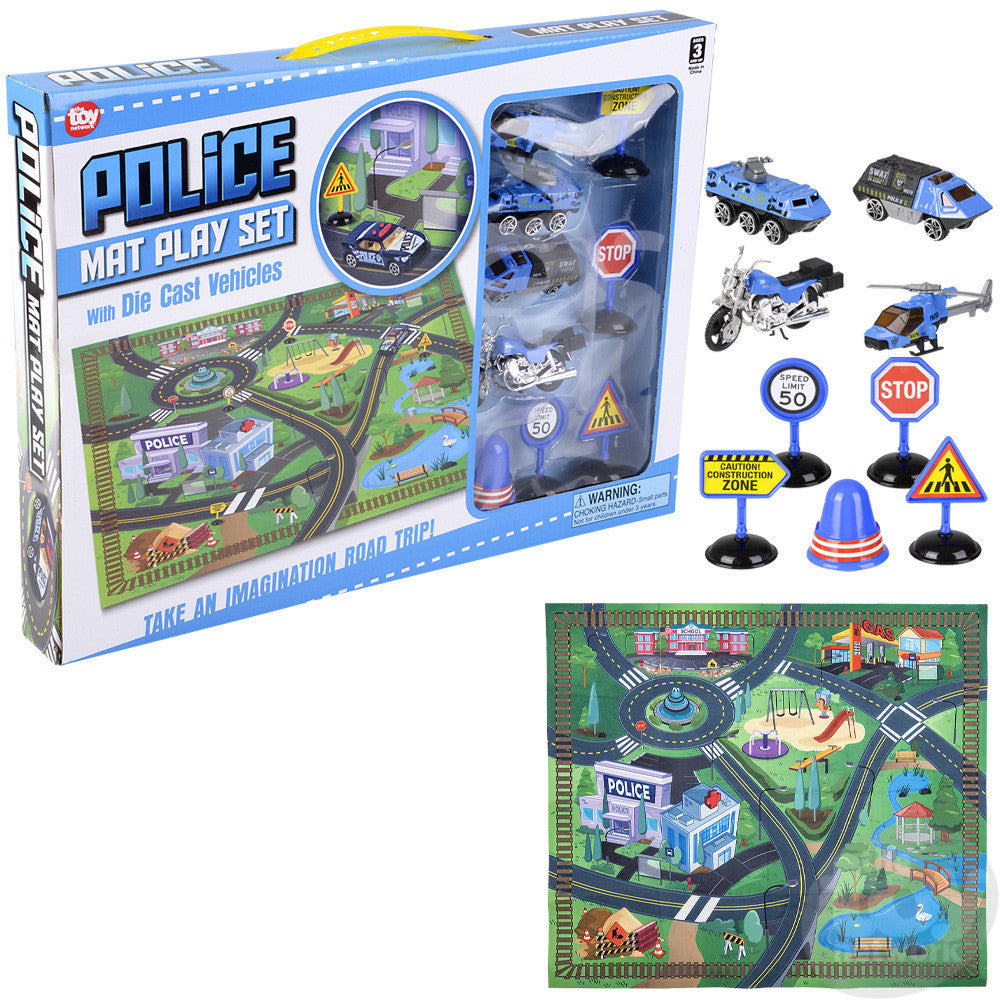 Diecast Police Vehicle Play Set 132025