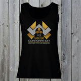 Nakatomi Corporation Women's Lady Fit Tank Top (Gold)