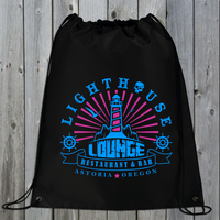 Lighthouse Lounge Retro Drawstring Bag