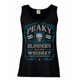 Peaky Blinders Razor Sharp Whiskey Women's Lady Fit Tank Top Blue