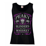 Peaky Blinders Razor Sharp Whiskey Women's Lady Fit Tank Top Pink
