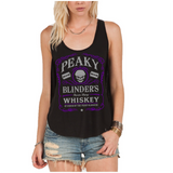 Peaky Blinders Razor Sharp Whiskey Women's Lady Fit Tank Top (Colour)