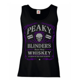 Peaky Blinders Razor Sharp Whiskey Women's Lady Fit Tank Top Purple