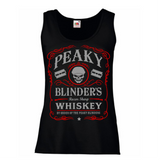 Peaky Blinders Razor Sharp Whiskey Women's Lady Fit Tank Top Red)