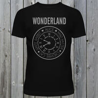 Wonderland T-Shirt Alice, Mad Hatter, White Rabbit, Cheshire Cat Tee (Plain)