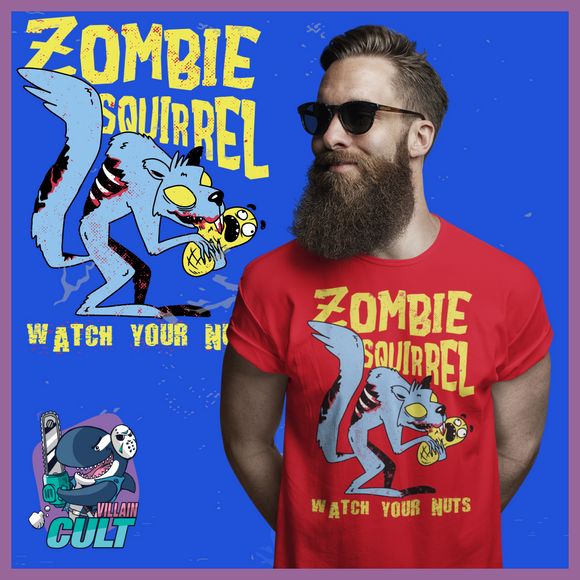 Zombie Squirrel Watch Your Nuts T Shirt Unisex S T-Shirts
