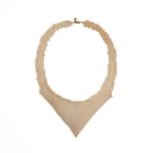 queen ring mesh brass necklace #1