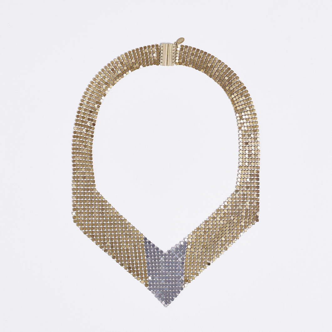 queen fish scale brass necklace #2