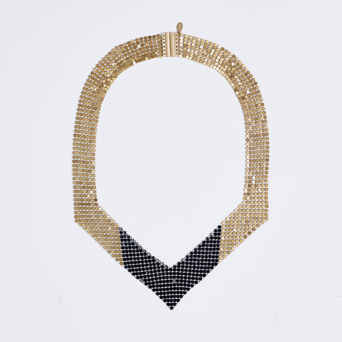 queen fish scale brass necklace #3