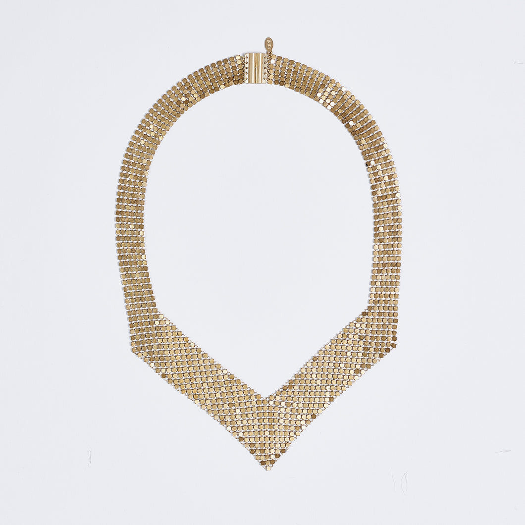 queen fish scale brass necklace #1