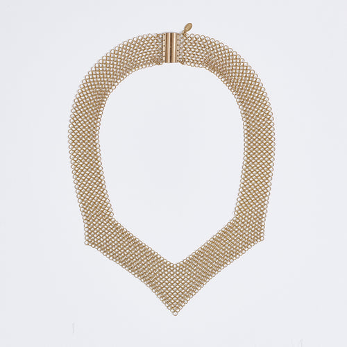 queen ring mesh brass necklace #2