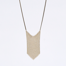 waterfall ring mesh brass necklace #1