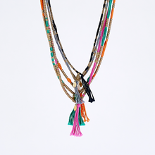 spiritual colors S brass necklace