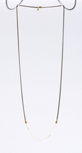 nature fishbone brass necklace #1