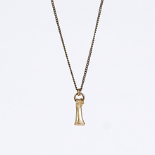 treasure nature bone brass necklace #2