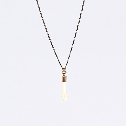 nature bone brass necklace #1