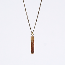 nature urchin L brass necklace #2