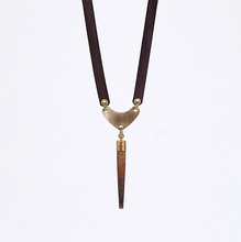 strapped urchin brass necklace #1
