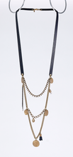 strapped gipsy brass necklace #1