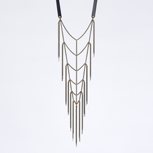 strapped native brass necklace #1