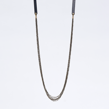 strapped messy S brass necklace #3