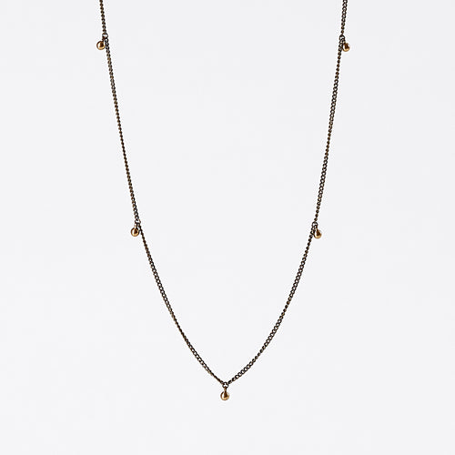 treasure pieces gipsy brass necklace #1