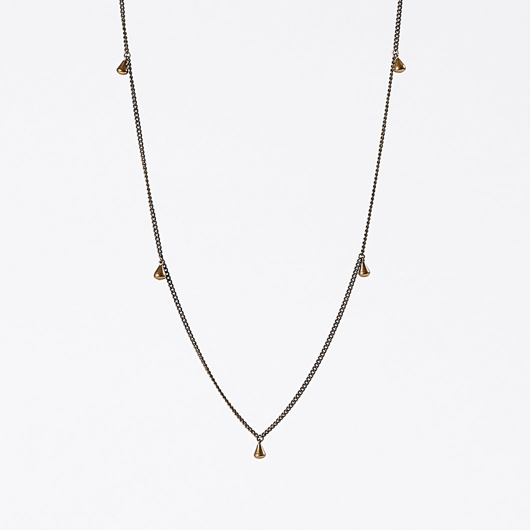 treasure pieces gipsy brass necklace #2