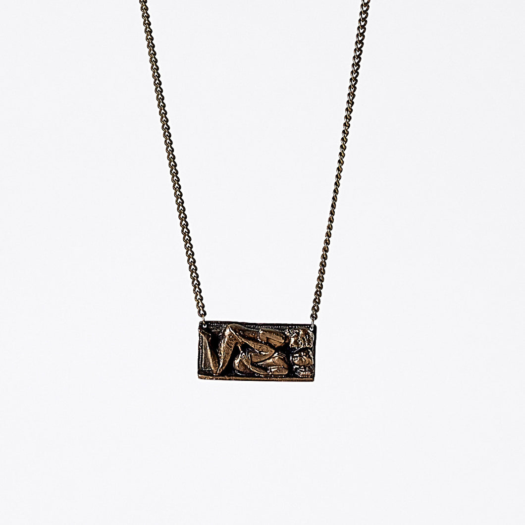 treasure kama sutra brass necklace #1