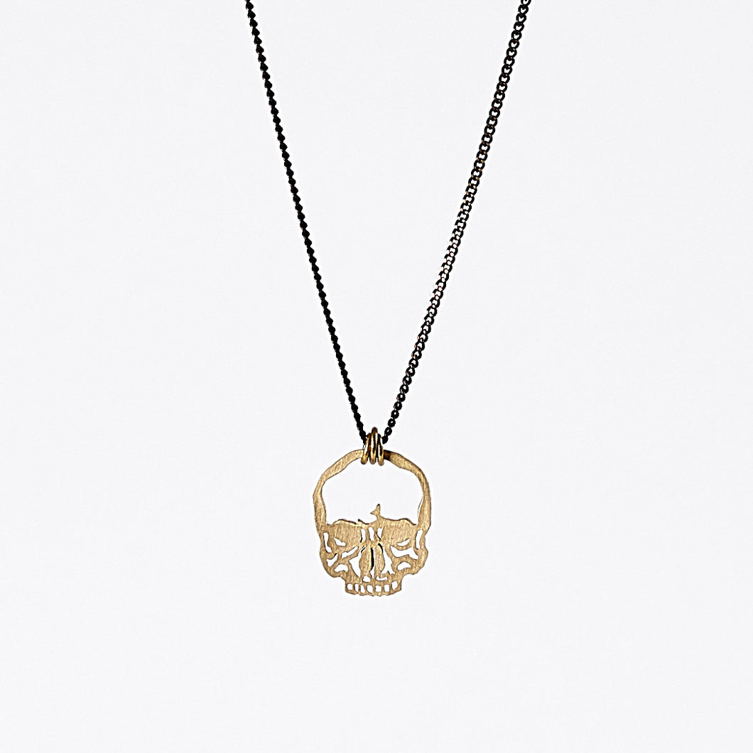 treasure fantasy skull brass necklace #1