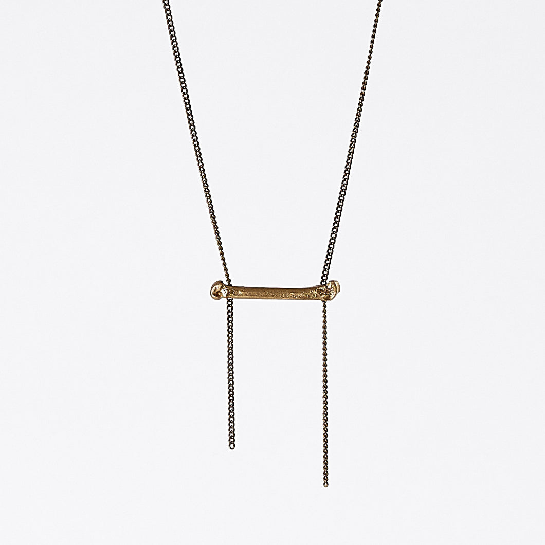 treasure nature bone brass necklace #3