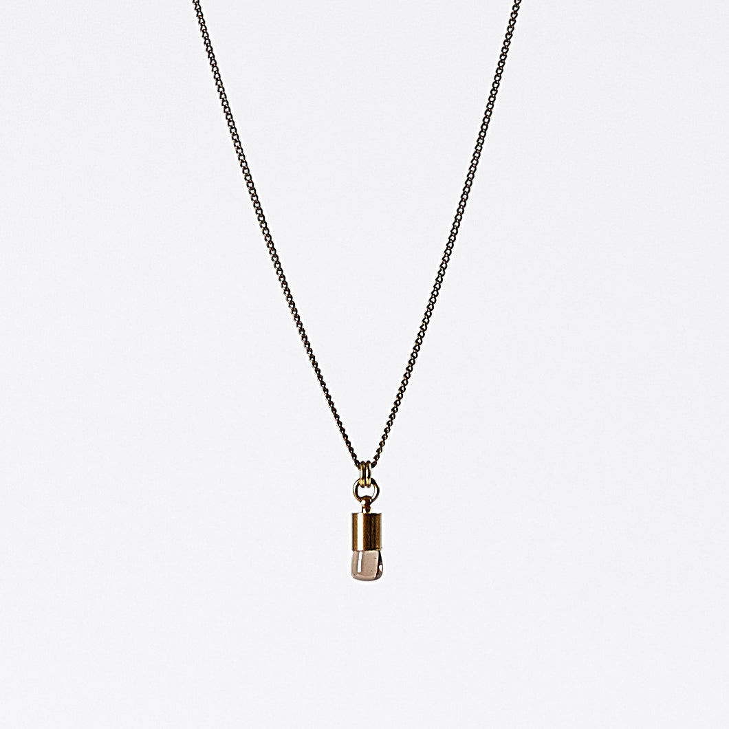 nature quartz brass necklace #2