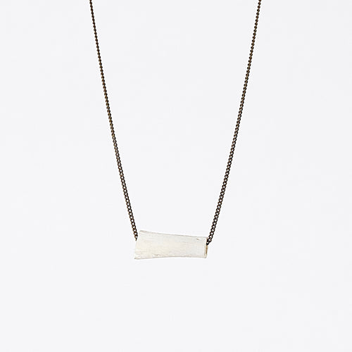 nature bone brass necklace #4