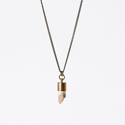nature horn brass necklace #2
