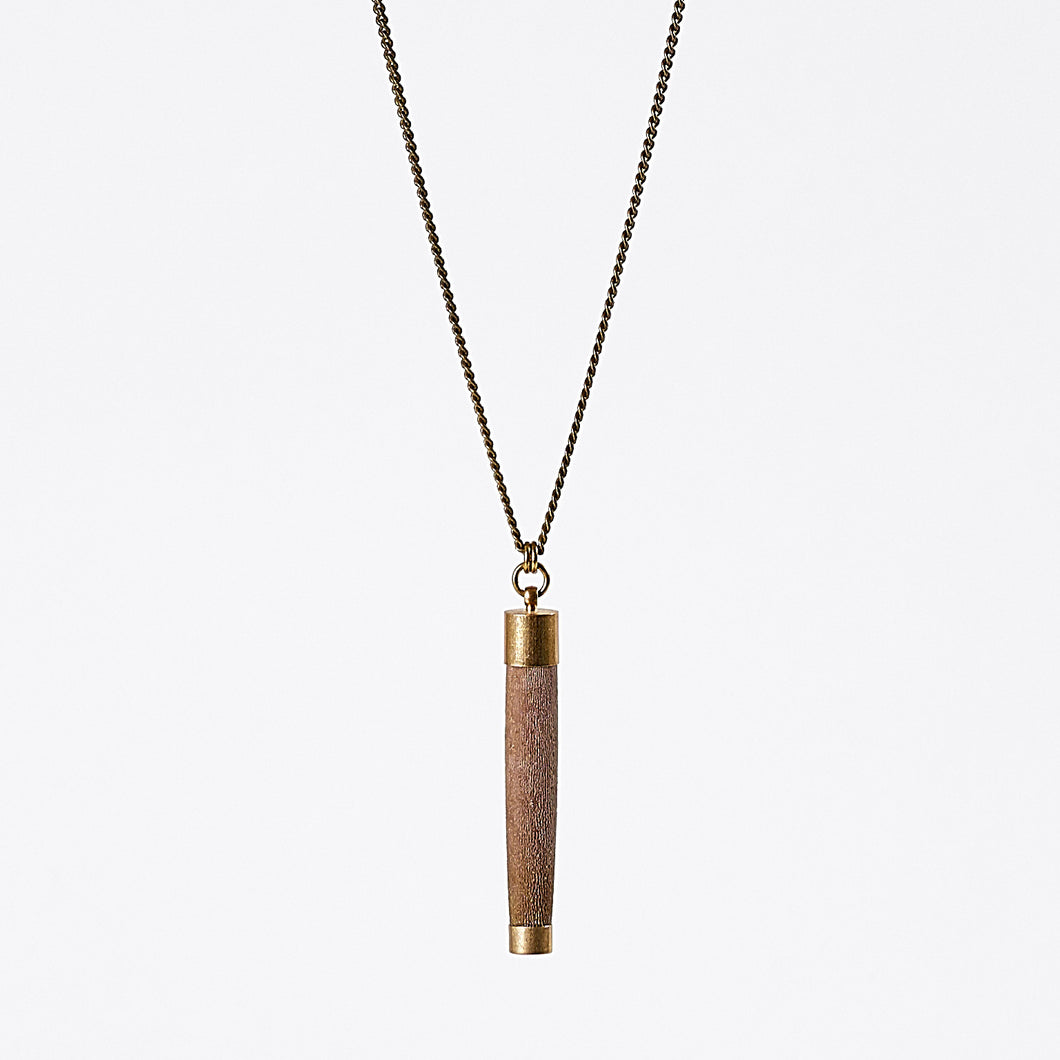 nature urchin L brass necklace #1