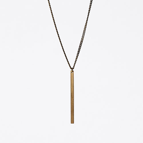edgy beam brass necklace #1 by ronijewelry