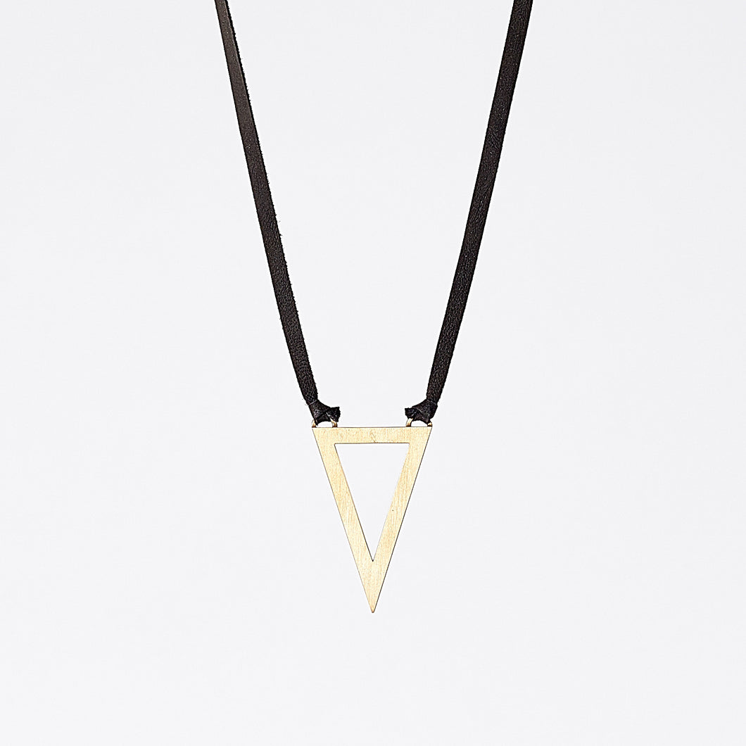 strapped light edgy brass necklace #2