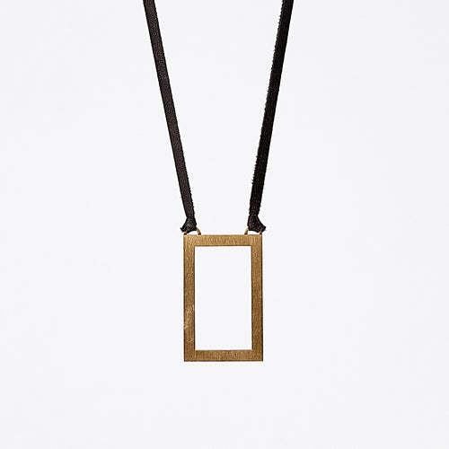 strapped light edgy brass necklace #1