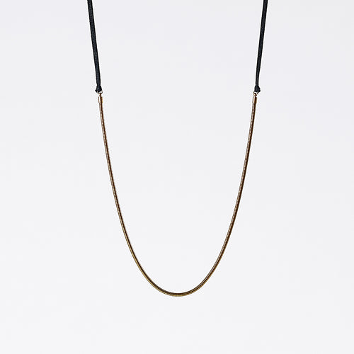 strapped light snake chain brass necklace #3