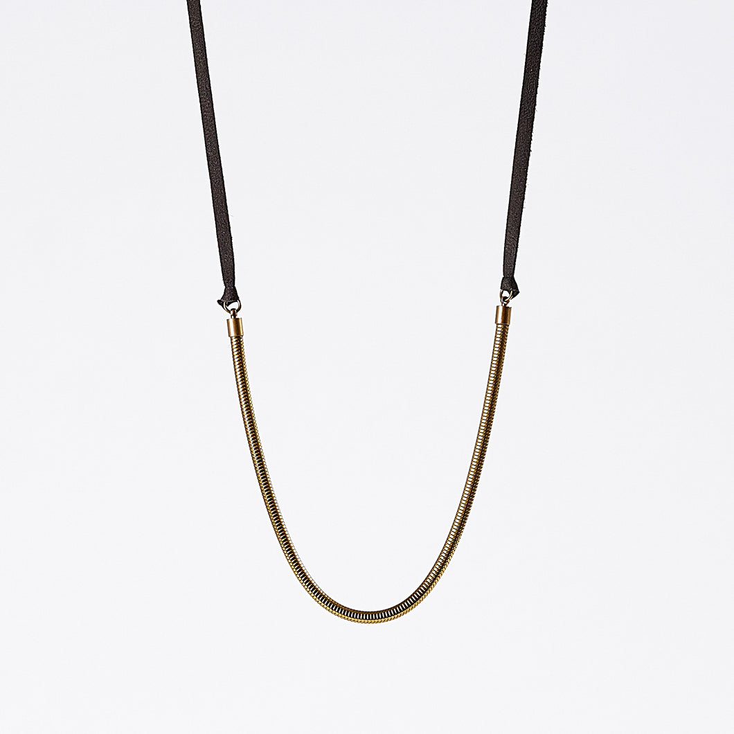 strapped light snake chain brass necklace #2