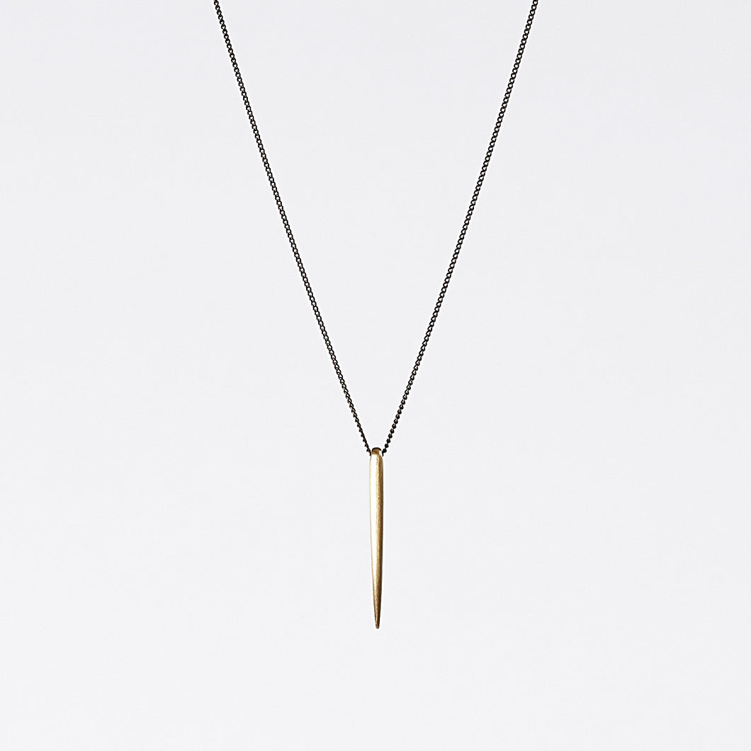 treasure spike brass necklace #1