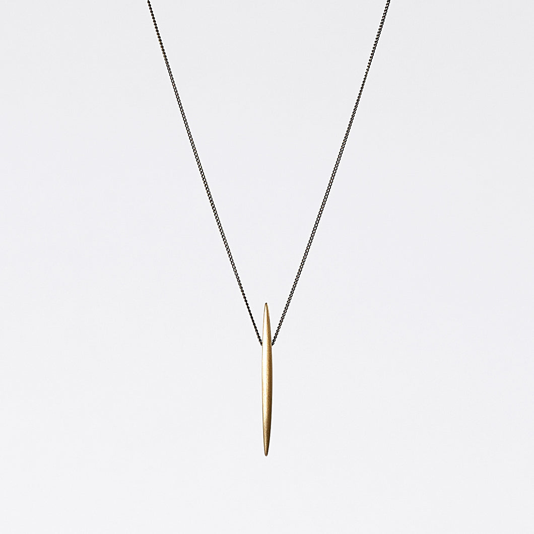 treasure spike brass necklace #2