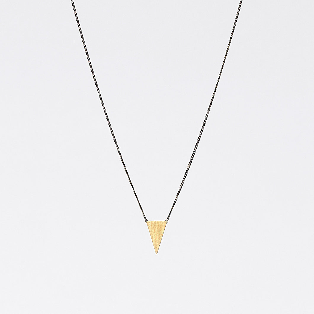 edgy triangle S brass necklace #2