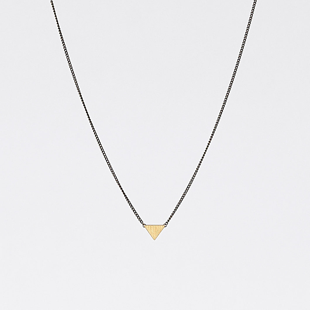 edgy triangle S brass necklace #3