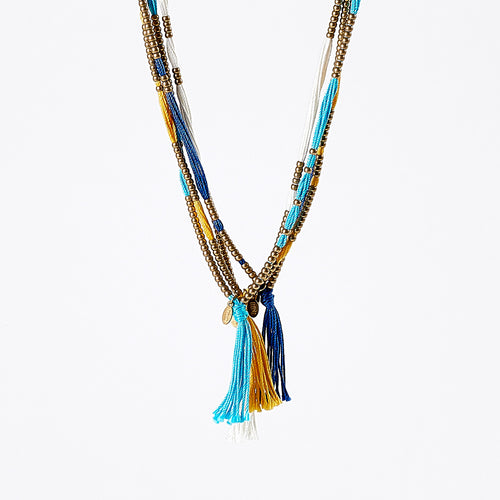 spiritual colors M brass necklace