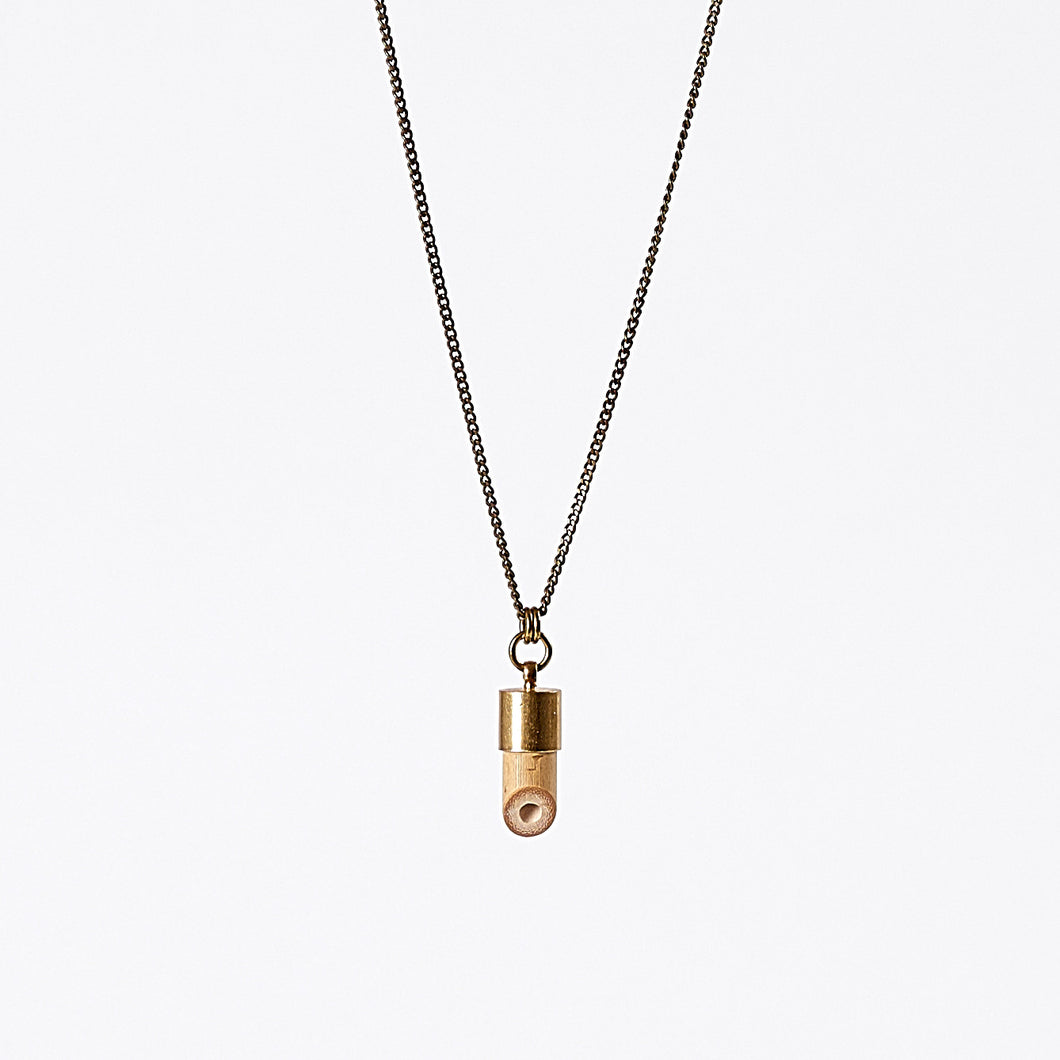 nature bamboo brass necklace #3