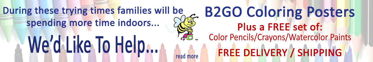 Great2bHomReally Big Coloring Posters Special Offer