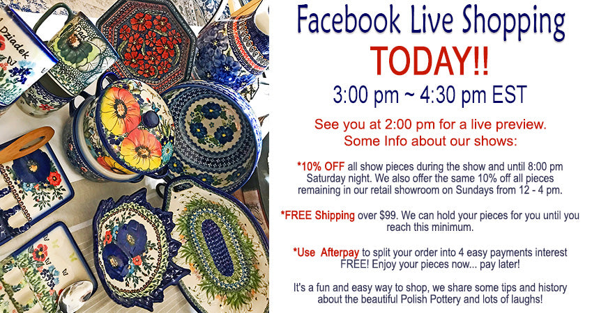 Polish Pottery Facebook Live Shows Weekly