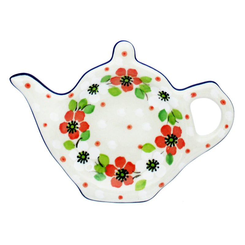 "Polish Pottery CA 4.5"" Teapot Teabag Holder - 2361X"