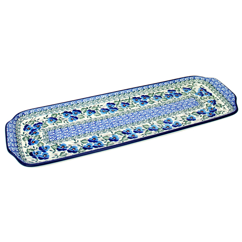 "Polish Pottery CA 16"" Extra Long Serving Tray - 2273X"
